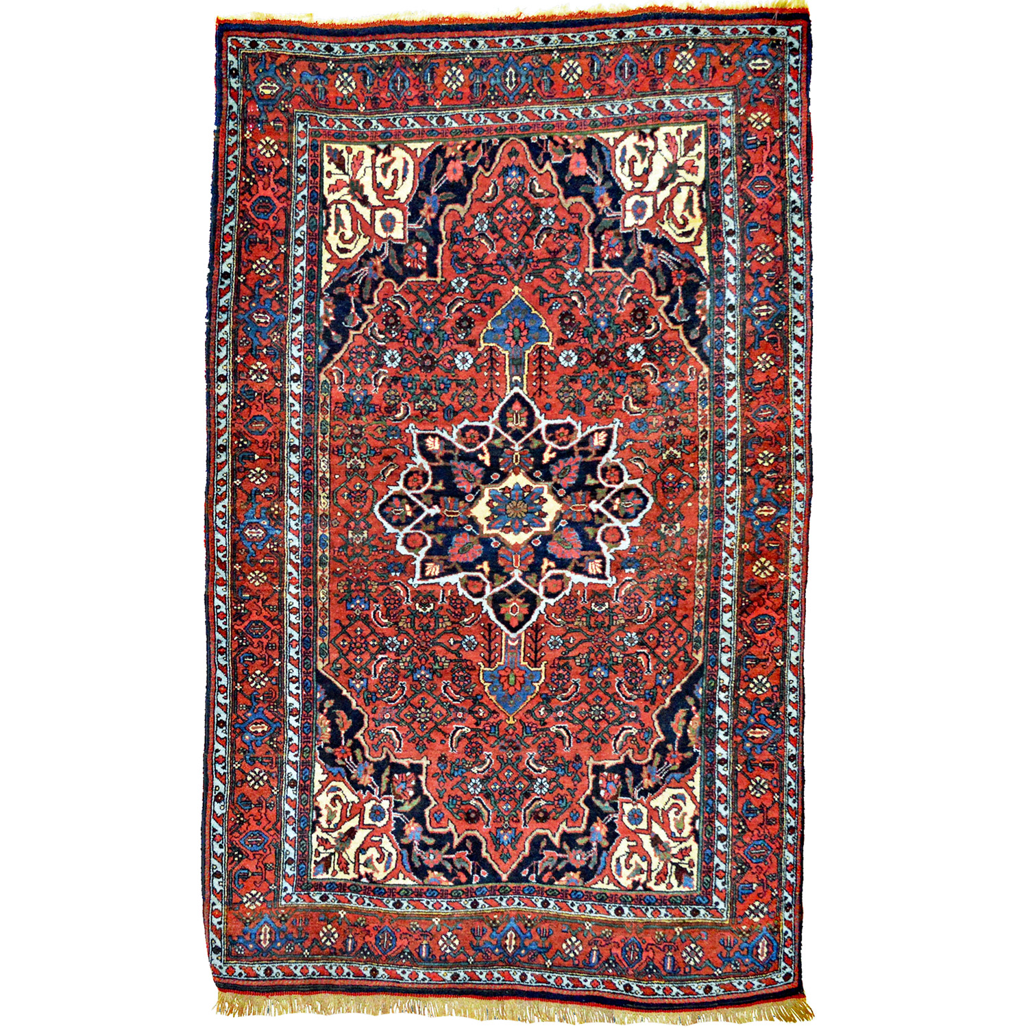 4.1 x 6.8 Antique Bidjar rug with Herati design, northwest Persia, circa 1910