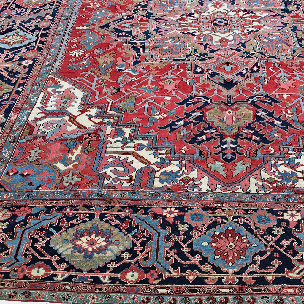 10.6 x 13.10 Antique Heriz Carpet, Northwest Persia, Circa 1915