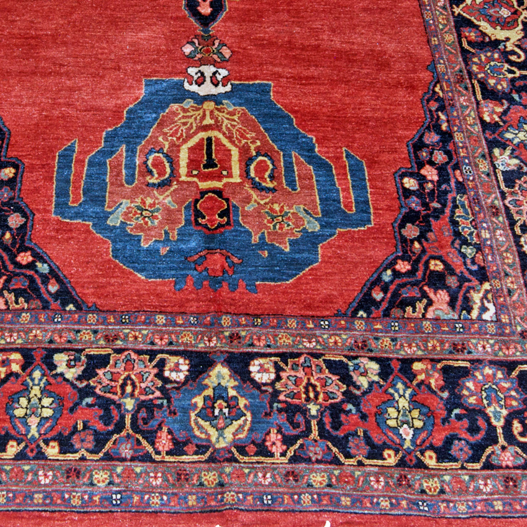 5.5 X 10.9 Contemporary Persian Bidjar Carpet, Open Field Design, Hand Woven With Natural Dyes and Hand Spun Wool