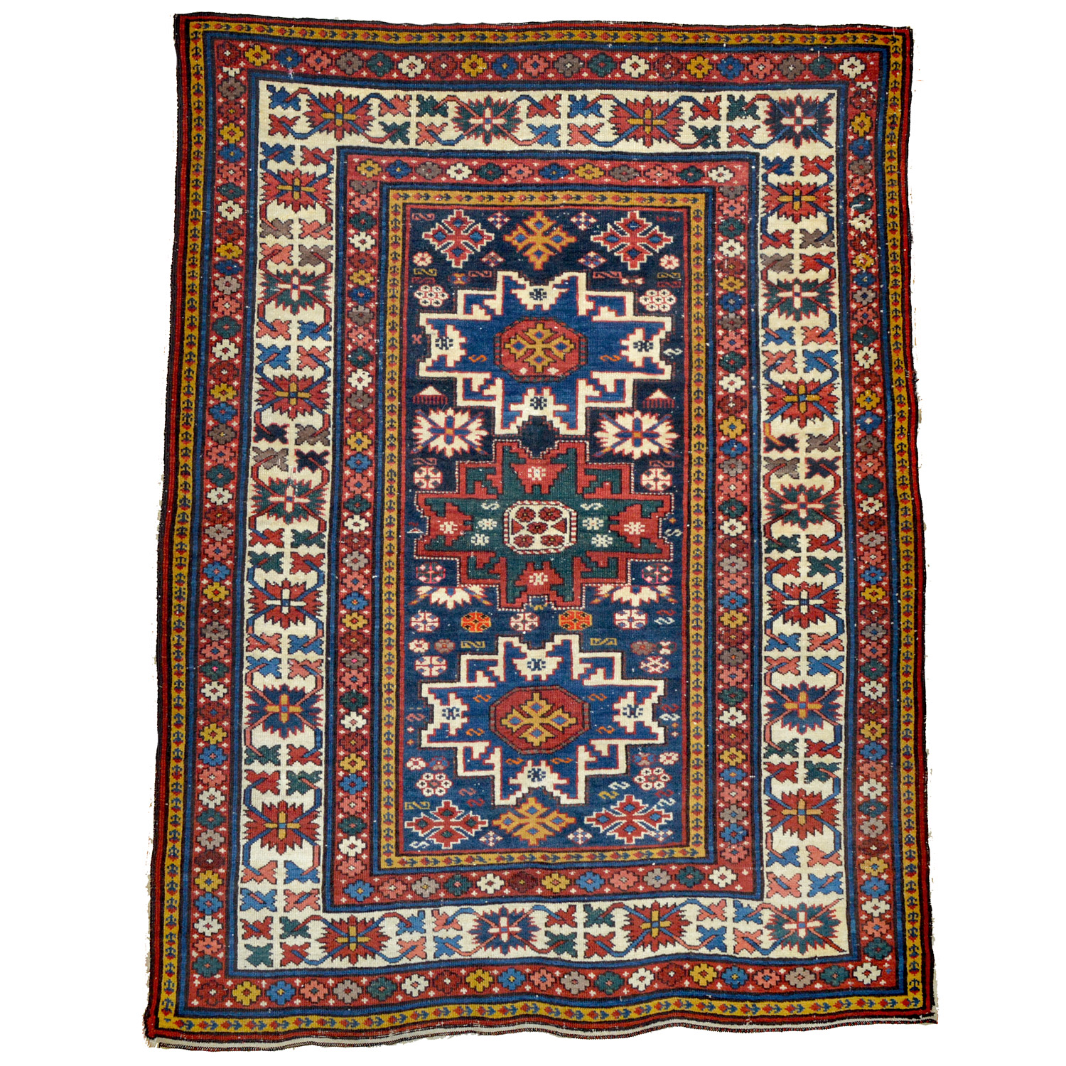 Antique Caucasian Shirvan rug with Lesghi Star design
